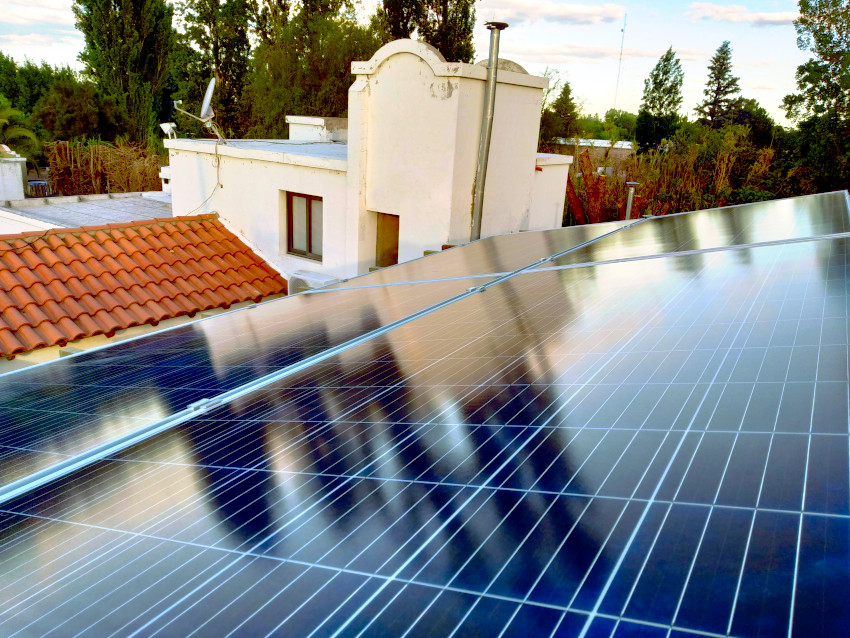 Una casa ya genera su propia electricidad en Luján de Cuyo, Mendoza