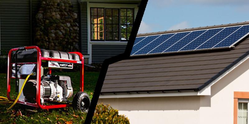 Energía Solar VS Grupo Electrógeno - Comparativo