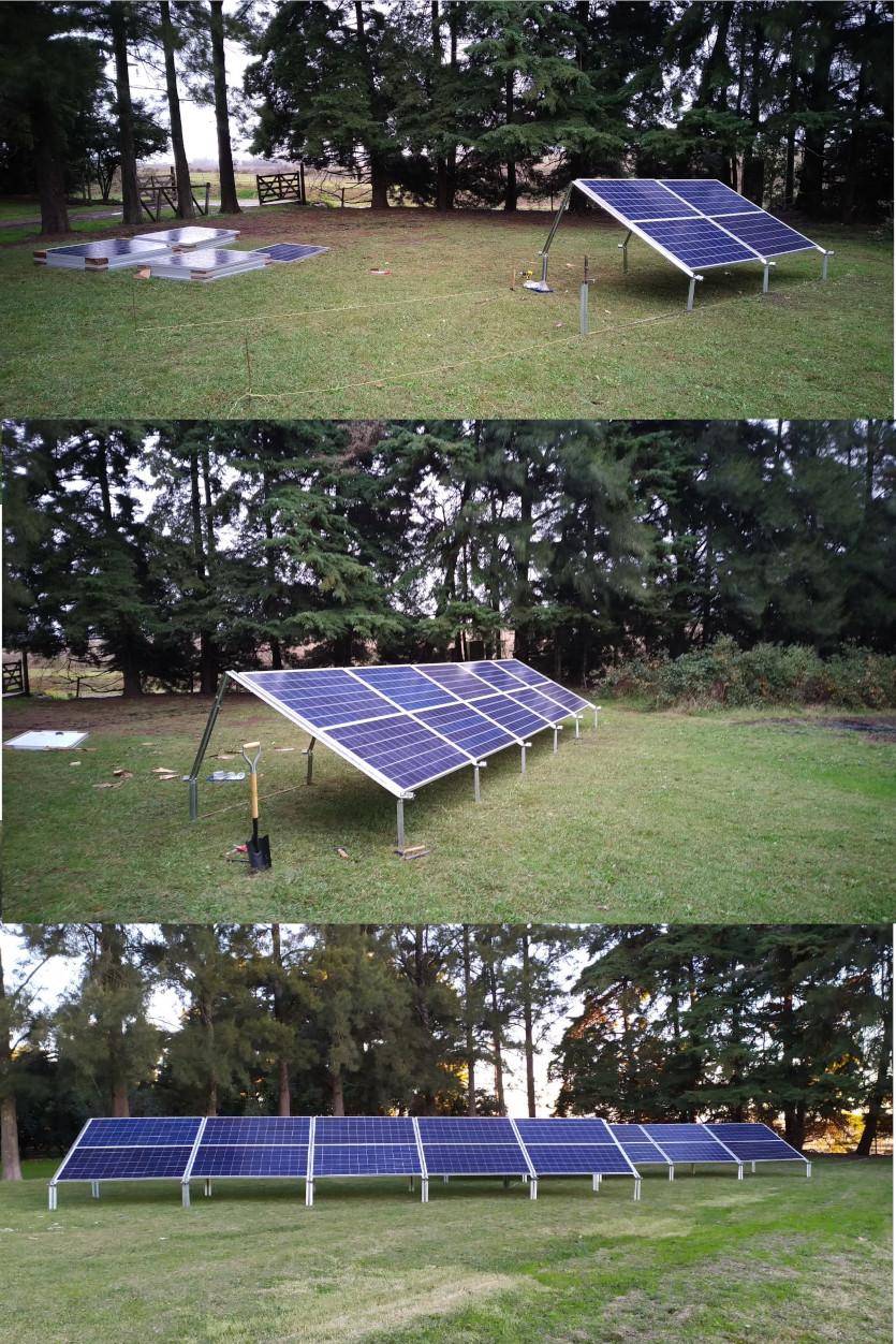 Proceso de armado arreglo de paneles solares - SuriaEnergy