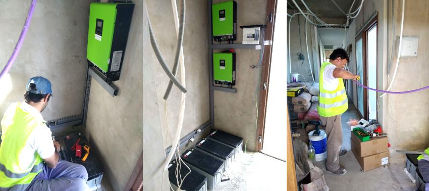 Instalación de inversores hibridos y baterías